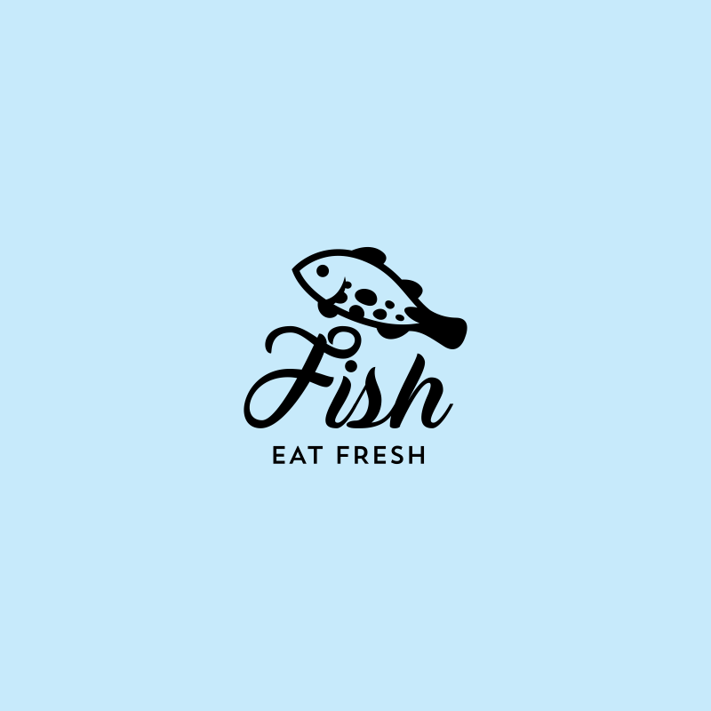 fish eat fresh aquaculture logo template free download