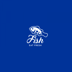 Fish: Eat Fresh - Aquaculture Logo Template