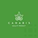 Canabis Quality Product Logo Template