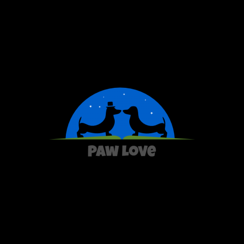 Paw Love Logo Template
