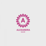 Alexandra Beauty Salon Free Logo Template