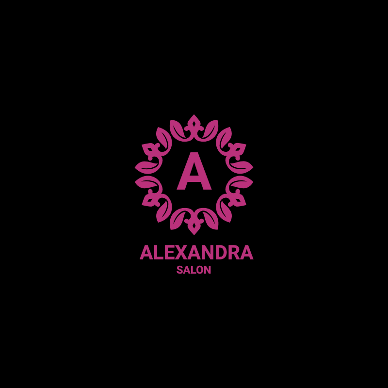 Alexandra awesome beauty salon logo template free download for Salon apiculture