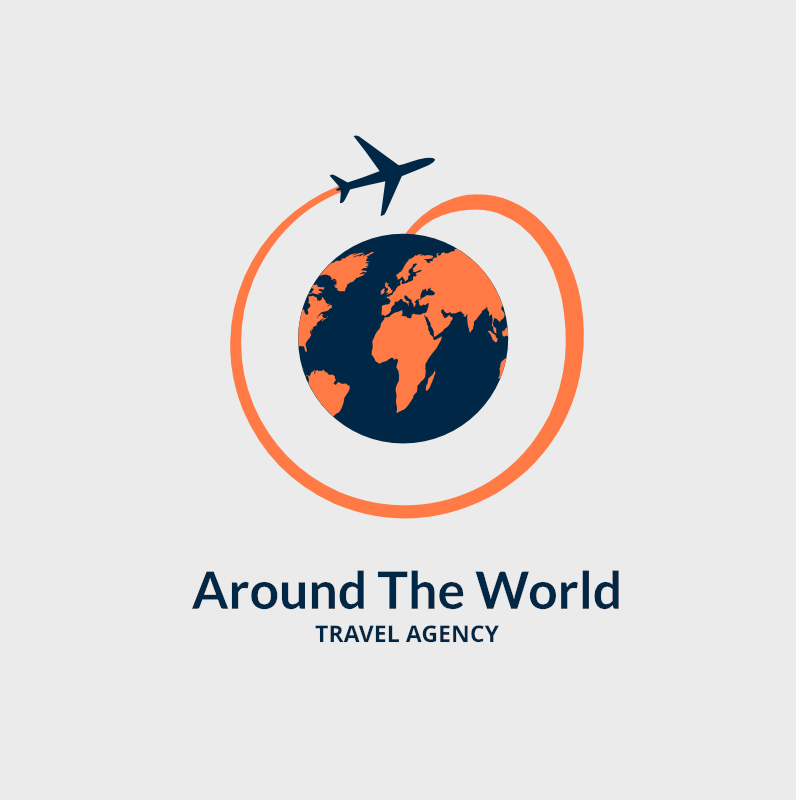 free around the world travel agency logo design maker