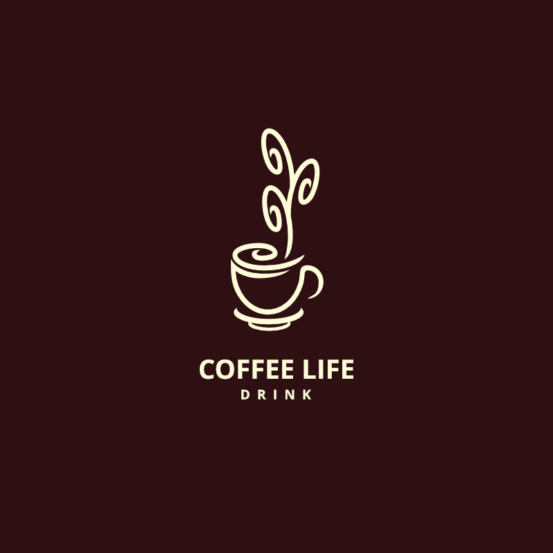 Awesome Free Coffee Life Free Logo Design Maker Amp Template