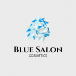 Blue Salon Cosmetics Logo Template
