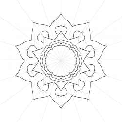 Affinity Designer 10 sided Mandala Mock-Up Template