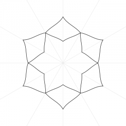 Affinity Designer 6 sided Mandala Mock-Up Template