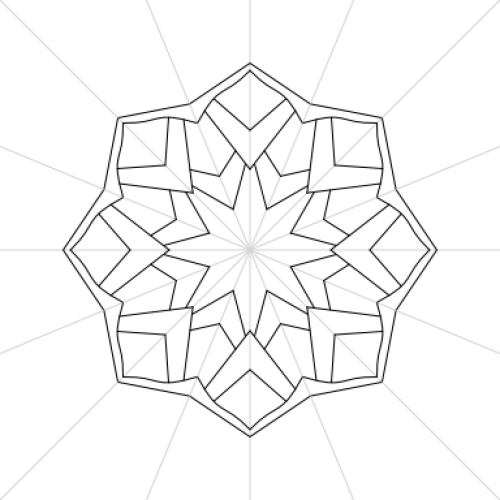 Affinity Designer 8 sided Mandala Mock-Up Template