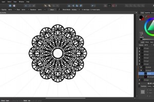 How to draw a mandala in Affinity Designer.