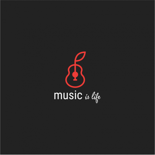 Music Is Life - Free logo Template